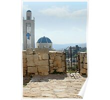 Orthodox Church Next to St. George Ruins Poster