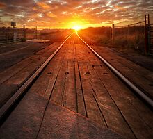 Sunrise on the Line by Michael Baldwin