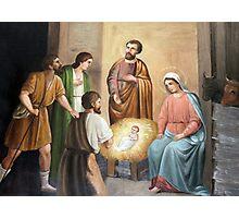 Nativity Painting at Nativity Church in Bethlehem Photographic Print