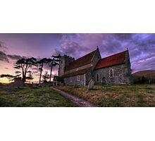 Sunset Church Photographic Print