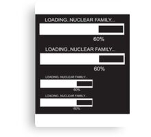 RAM Design Nuclear Family Plate #46 Canvas Print