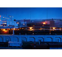Blue Night At The Train Station Photographic Print
