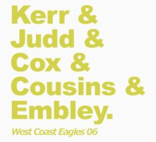West Coast Eagles 2006 by JR Collection