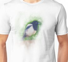 Scratchy Painting of a Scruffy Magpie Unisex T-Shirt