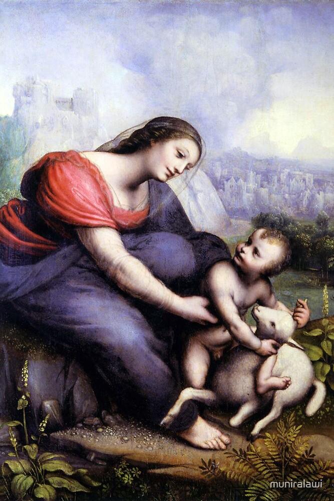 Jesus with a Lamb by muniralawi