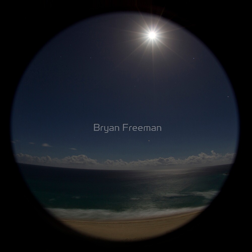 Full Moon Over Surface Paradise | QLD | Australia by Bryan Freeman