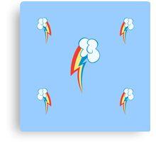 My little Pony - Rainbow Dash Cutie Mark V3 Canvas Print