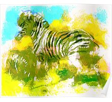 Abstract Zebra Poster