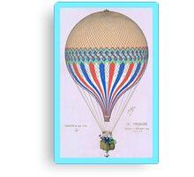 French Hot Air Balloon Canvas Print