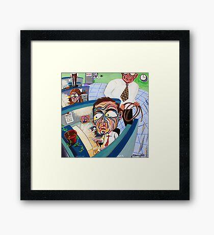 'CUBICLE LIFE  Framed Print