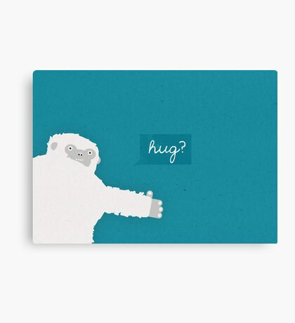 Yeti Hug Canvas Print