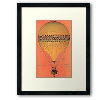 French Hot Air Balloon Framed Print