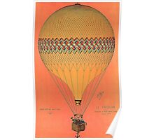 French Hot Air Balloon Poster