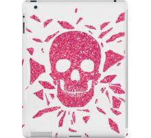 Girly Pink Glitter Abstract Skull Cool Photo Print iPad Case/Skin