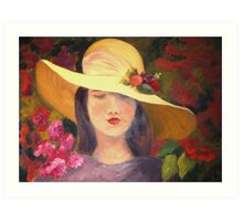 flower girl - heather Art Print