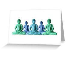 Five Buddhas Greeting Card
