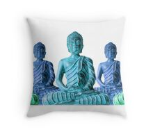 Five Buddhas Throw Pillow