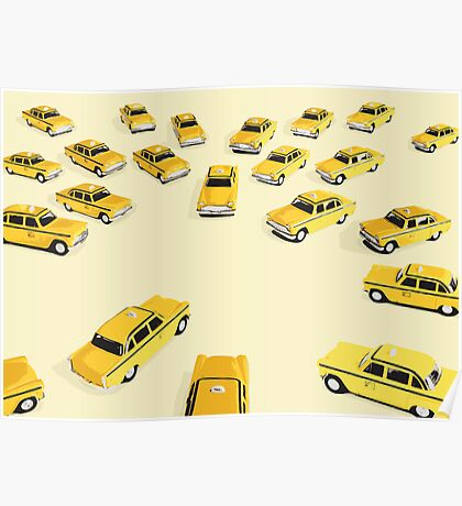 22 Yellow Taxis Poster