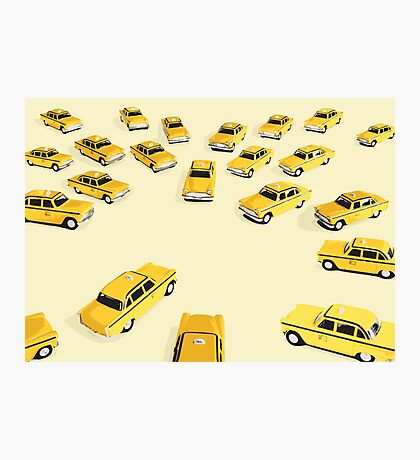 22 Yellow Taxis Photographic Print