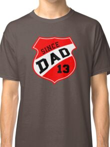 DAD SINCE 2013 Sports Design Red Classic T-Shirt