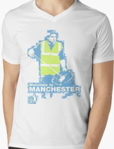 Welcome to Manchester Tevez Mens V-Neck T-Shirt
