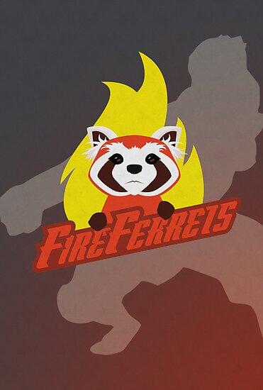 Fire Ferrets by jdotrdot712