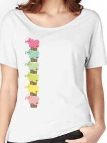 Sweet Pastel Cupcakes Women's Relaxed Fit T-Shirt