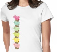 Sweet Pastel Cupcakes Womens Fitted T-Shirt
