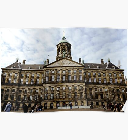 Royal Palace in Amsterdam Poster