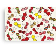 Cheeky Cherries Pattern Canvas Print