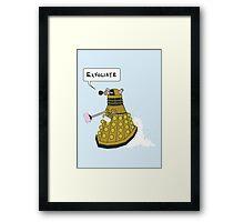 EXFOLIATE Dalek Framed Print