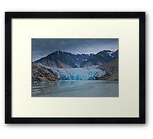 South Sawyer Glacier, Tracey Arm, Alaska Framed Print