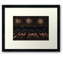Ceiling symmetry Framed Print