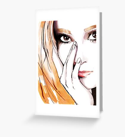 SNSD- Jessica Greeting Card