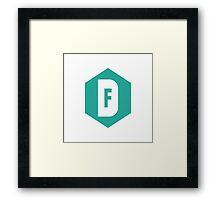 Designery Finery Logo Framed Print