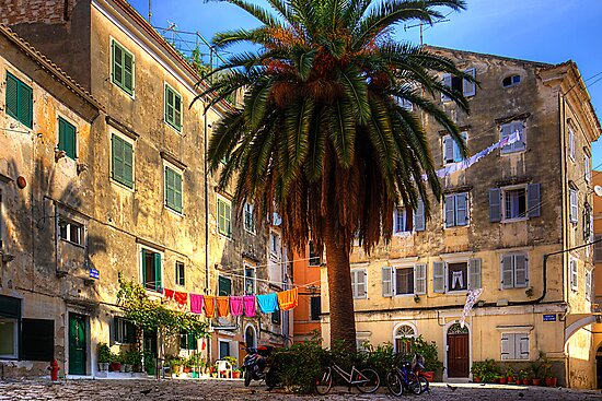Washing Lines in Corfu Town by Tom Gomez
