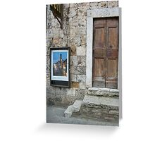 Foto Shop Gimignano Italy Greeting Card