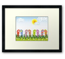 Flip Flops Having Fun in the Sun Framed Print
