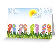 Flip Flops Having Fun in the Sun Greeting Card
