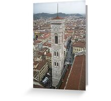 Florence (Firenze) Italy the tower Greeting Card