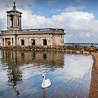 Normanton Church at Rutland Water by Ralph Goldsmith