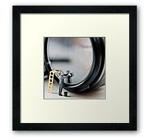 Cleaning a Lens (Micro world no 1) Framed Print