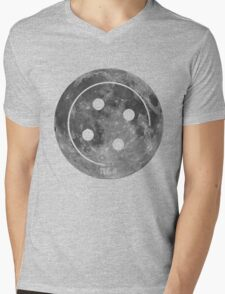Button Moon Mens V-Neck T-Shirt