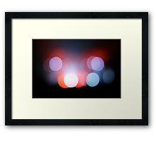 Colour Lights Blur Framed Print