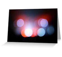 Colour Lights Blur Greeting Card