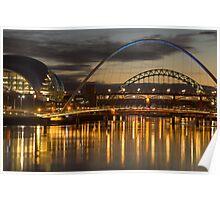 Dusk over the Tyne 2 Poster
