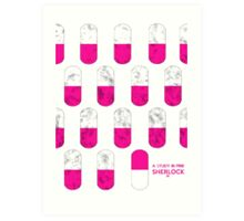 Sherlock Minimalist poster-style Shirts and Art-A Study in Pink, S1E1 Art Print
