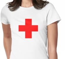 Medical Cross Womens Fitted T-Shirt