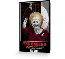 The Zombie Political Dead Greeting Card