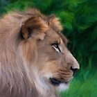African Lion Paint by KeithBanse